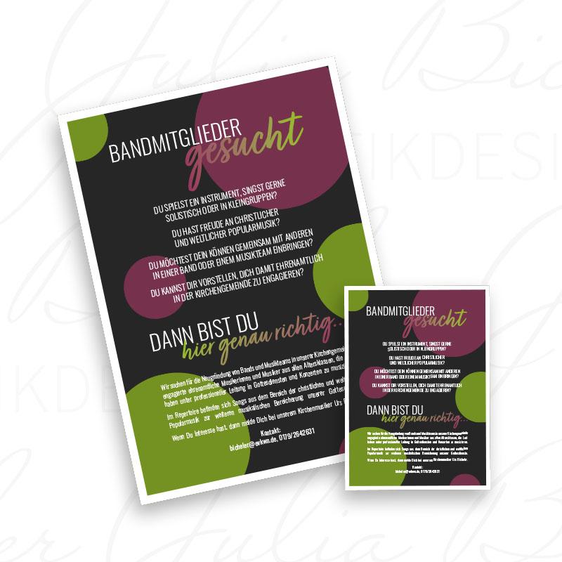 Flyer & Plakat Design Ev. Kirchenmusik Wendlingen - Julia Bicheler Grafikdesign Waiblingen
